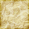 Vector clipart: seamless paisley pattern on crumpled golden foil texture