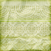 Photo 300 DPI: seamless floral borders on crumpled green foil paper te