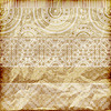 Vector clipart: seamless floral borders on crumpled golden foil paper t