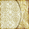 Vector clipart: retro background with vintage floral patterns
