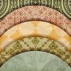 Vector clipart: floral patterns, vintage retro style