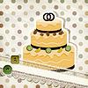 старинные картины с свадебный торт и ретро фон