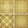 Vector clipart: seamless golden patterns, oriental style
