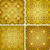 seamless golden patterns