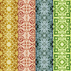 Vector clipart: retro seamless patterns