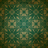 seamless floral golden pattern on grungy background