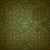 seamless golden pattern on green grungy background wit