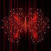 glänzenden Schmetterling-, Energie-Konzept