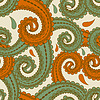 Vector clipart: seamless eastern style paisley background