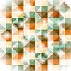 seamless geometric pattern with 3d illusion