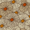 Vector clipart: Seamless Pattern with Abstract Flowers