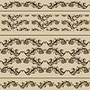 Vector clipart: 2 Vintage Borders and 2 Seamless Patterns