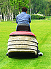 Photo 300 DPI: person on lawn-mower