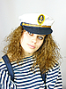 ID 3054257 | Attractive young girl in captain's cap | High resolution stock photo | CLIPARTO