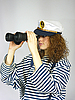 ID 3054464 | Young girl in captain's cap | High resolution stock photo | CLIPARTO