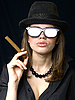 Photo 300 DPI: girl in points and cap