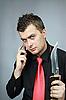 ID 3060098 | Mann spricht per Telefon | Foto mit hoher Auflösung | CLIPARTO