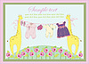 Vector clipart: Greeting card of the newborn with animals