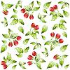 Vector clipart: background of strawberries