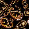 Vector clipart: seamless background of paisley ornament