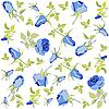 Background of blue roses | Stock Vector Graphics
