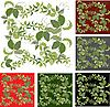 Vector clipart: backgrounds with leaves of wild grape