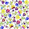 background of pansies