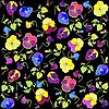 Vector clipart: background of pansies