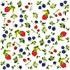 Vector clipart: background of berries