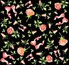 Vector clipart: background of roses and bows