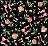 Векторный клипарт: фон из роз и бантов