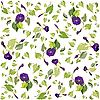 Vector clipart: background of violet flowers