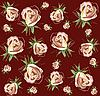 Vector clipart: background of roses