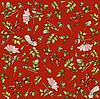 Vector clipart: background with wild rose and hips