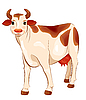 Vector clipart: happy ginger cow