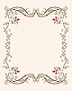 Vector clipart: vintage floral frame with tulips