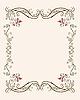 Векторный клипарт: старинная цветочная рамка с тюльпанами