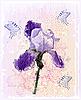 Vector clipart: grunge iris flower