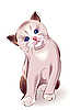 Vector clipart: portrait of blue-eyed little kitten