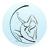 Vector clipart: girl doing yoga exercise