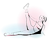 Vector clipart: girl doing stretching exercise
