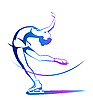 Vector clipart: Winter sport. Ladies figure skating. Ice show
