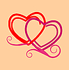 Vector clipart: stylized hearts