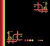 Векторный клипарт: абстрактный черный фон