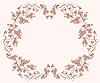 Vector clipart: flower vignette