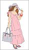 Vector clipart: beautiful girl