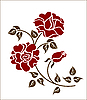 Vector clipart: red roses on the white
