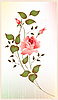 Vector clipart: vintage greeting card with rose