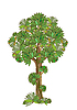 Vector clipart: stylized green tree