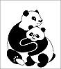 Векторный клипарт: Семья панд